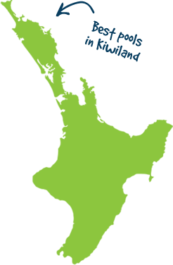Map showing spa and pool servicing area in Whangarei